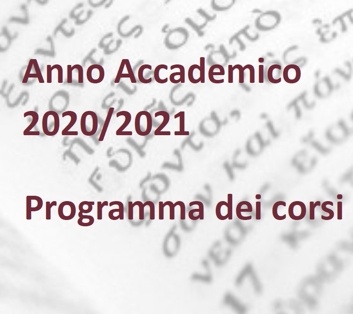 Program of FVT courses Academic Year 2020- 2021